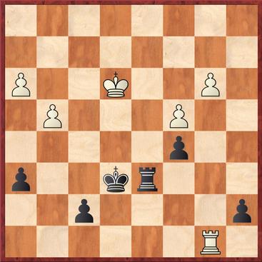 Straßner - Korb: Weiß gewann nach 41.Th8 Ke5? 42.Tc8! einen Bauern und später die Partie