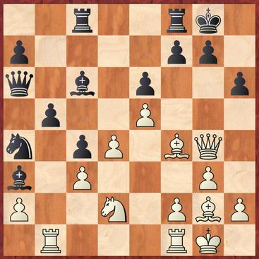 Kirch - Lehmann: Holger ging hier an der Möglichkeit 21. ... h5! nebst Ablenkung der weißen Dame vorbei, was ihm nach 22.Dxh5 Lxg2 23.Kxg2 Sxc3 sogar die bessere Stellung eingebracht hätte