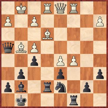 Margenberg - Ellend: Weiß zog hier 26.Lf3, besser und stärker war der Zwischenzug 26.cxd6! mit Bauerngewinn