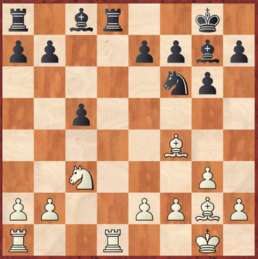 Schmidt - Gottas: Der einzige Ausweg für Schwarz bestand in 14. ... Le6 15.Lxb7 Txd1+ 16.Txd1 Tf8!? nebst passiver Verteidigung.