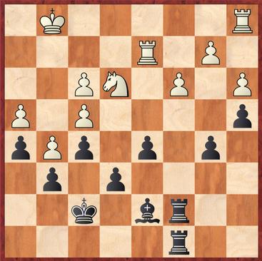 Schneider - Hein: Weiß zog hier 31.gxh6 und nahm mit g6 den falschen Bauern vom Brett :-)