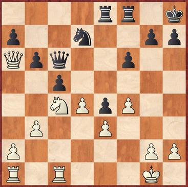 Mauelshagen - Dickel: Weiß übersah hier das druckvolle 23.d5! was Weiß nach z.B. Dxd5 24.Td1Dc6 25.Dxa7 in Vorteil gebracht hätte
