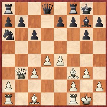Straßner - Fuchs: Weiß kommt nach 12.Lxf3 mit einer starken Stellung aus der Eröffnung