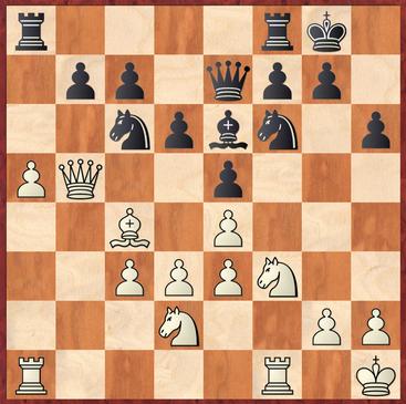 Milde - Schuster: Schwarz hätte hier mit 16. ... Ld7 in deutlichen Vorteil kommen können. Da Sxa5 nicht mehr sinnvoll verteidigt werden kann.