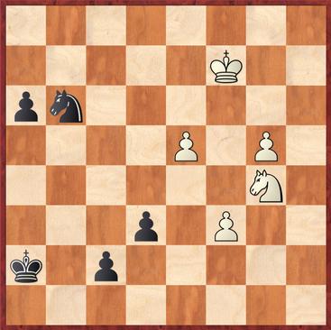 Ortiz - Sebastian: Hier verpasste Schwarz die Partie mit 45. ... Sf5 nebst Se7 sofort zu entscheiden