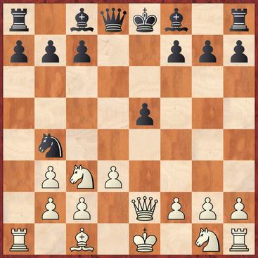 Klippert - Straßner: Weiß verweigerte hier die Annahme des Bauernopfers mit 9.Le3