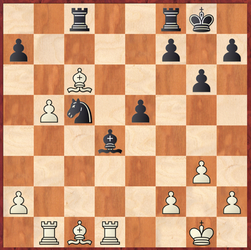 Straßner - Fuchs: Weiß gewinnt hier mit 21.La3! entscheidendes Material