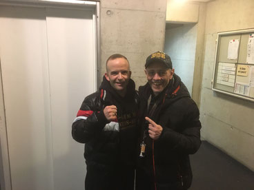 Marco Spath (Inhaber M's-Gym Bern / Cheftrainer BOXING TEAM ITTIGEN) und Vito Rana (BOX-CLUB BERN). Ex-Amateurboxer Marco mit Ex-Profiboxer Vito. Heute beide Trainer von Berner Box-Vereinen SA 17.02.2018 Matte-Bern