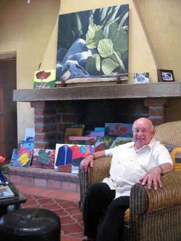 Casa di Robert a Todos Santos con i suoi quadri.