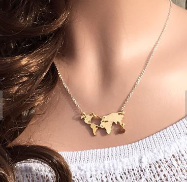 Map of the World Necklace