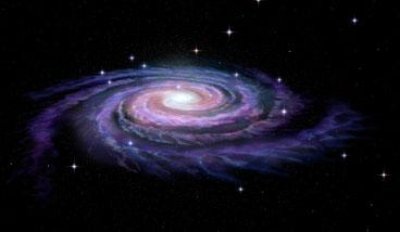 銀河は渦となり、中心が出来る