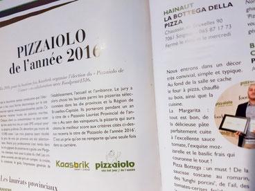 pizzaiolo de l'année la bottega della pizza soignies hainaut 2016 les meilleures pizzas de la région
