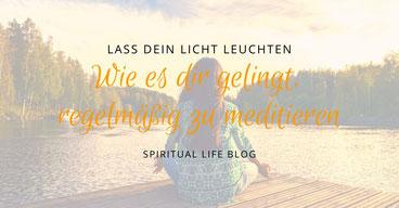 meditierende Frau am Steg
