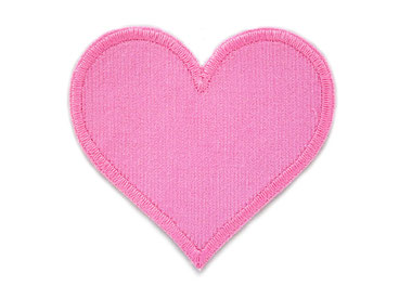Bild: Cord Flicken Hosenflicken Applikation, Herz rosa Knieflicken zum aufbügeln für Cordhosen
