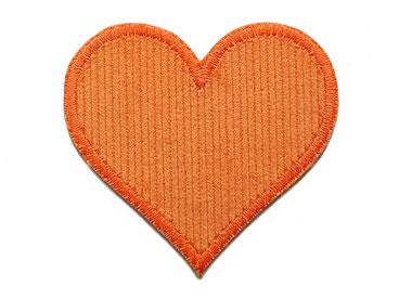Bild: Herz orange Cord Flicken Hosenflicken Applikation zum aufbügeln für Mädchen