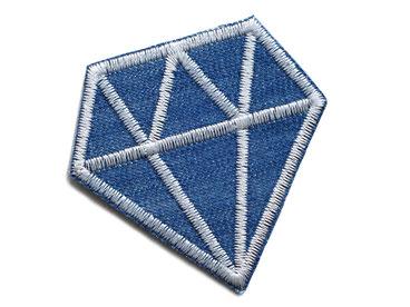 Bild: Diamant Jeansflicken Hosenflicken Patch zum aufbügeln Accessoire für Kinder und Erwachsene