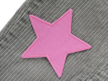 Bild: Stern Cord Flicken zum aufbügeln rosa, Bügelflicken für Cordhose Aufnäher
