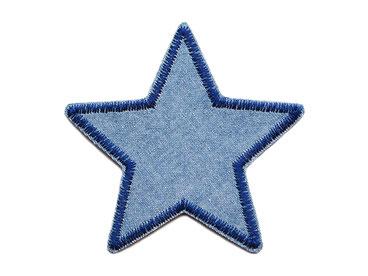 Bild: Stern Jeansflicken Aufnäher zum aufbügeln blau