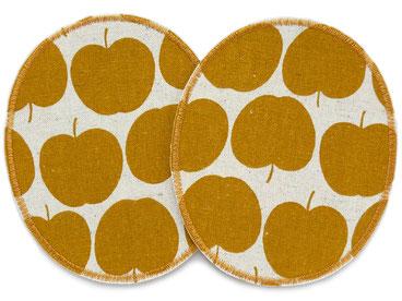 Bild: Flicken für Kinder, Knieflicken zum aufbügeln, Aufnäher Apfel