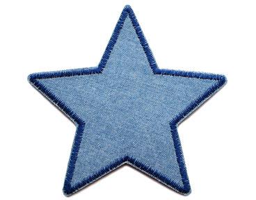Bild: Stern Jeansflicken Aufnäher blau Flicken zum aufbügeln