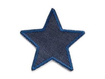 Bild: Bügelflicken Stern blau, Jeansflicken Knieflicken zum aufbügeln