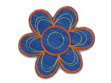 Bild: Knieflicken Hosenflicken Jeans Flicken Blumen