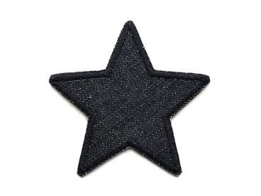Applikation Aufnäher Patch Knieflicken Flicken Hosenflicken Sterne schwarz