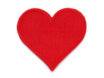 Bild: Cord Flicken Hosenflicken Applikation Herz rot Knieflicken zum aufbügeln