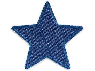 Bild: Bügelflicken Stern, Jeansflicken Aufnäher schlichter Stern zum aufbügeln