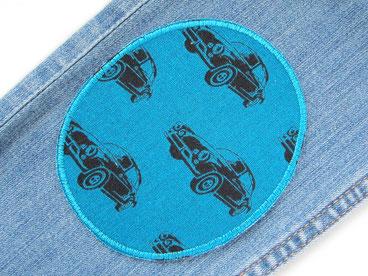 Bild: Hosenflicken für Kinder mit Auto, Bügelflicken für Jeans
