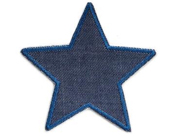 Bild: robuster Jeansflicken Stern blau, Knieflicken Bügelflicken für Kinder