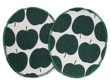 Bild: Apfel Flicken für Kinder, Knieflicken zum aufbügeln, Aufnäher Apfel grün