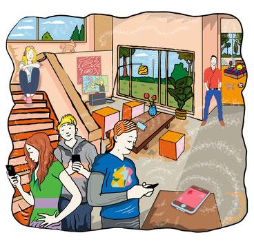 handy-strahlung, mobilfunkstrahlung, teenager, smartphone, energie+umwelt, niels-schroeder
