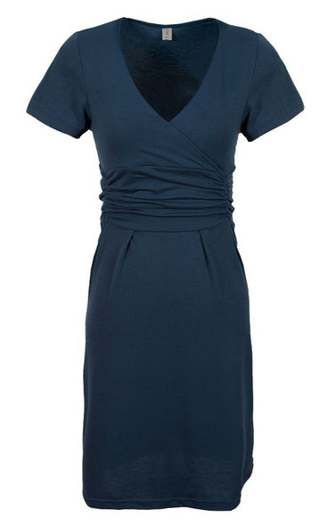 navy blue short sleeve maternity dress
