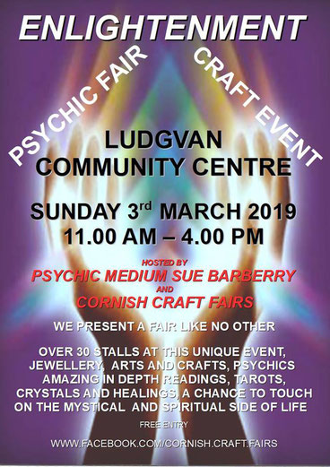 cornish craft fairs psychic event with sue barberry