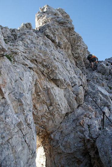 Beginn des Klettersteiges