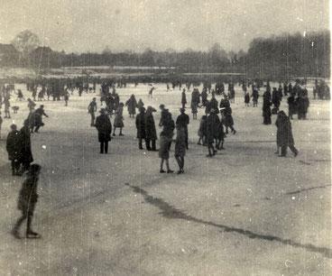 Schlittschuhlaufen 1931 auf dem Aasee