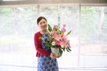 後援会のみなさまからのお花!とても嬉しいです。