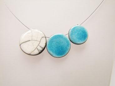 bijou, collier en céramique raku.