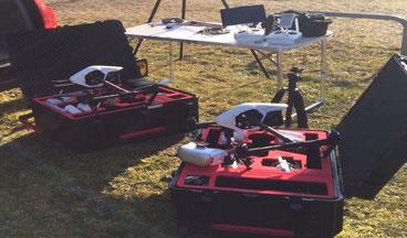 Drohnentechnik, Inspire, DJI, Hartschalenkoffer, Transport, Equipment, Drohnenflug
