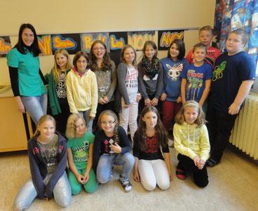 1. NMS mit Klassenvorstand Karin Schelm (Sept. 2013)