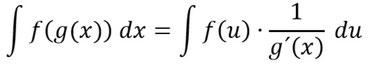 Formel der Integration durch Substitution