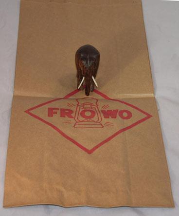 Originale unbenutzte Verpackungstüte für Laternen. Um 1989.