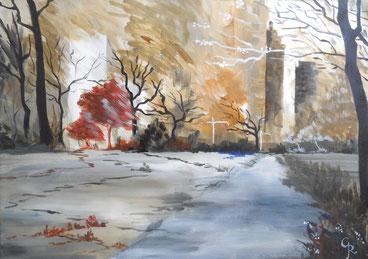 Galambos Rita - Herbst in NY Rita Galambos freischaffende Künstlerin Malerin Designerin Painter Designer Artist Vorarlberg Malerei