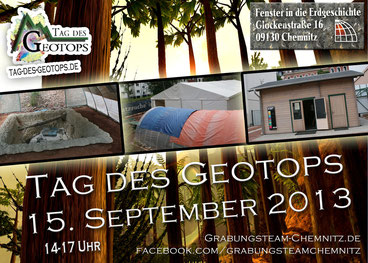 Grabung Chemnitz Tag des Geotops