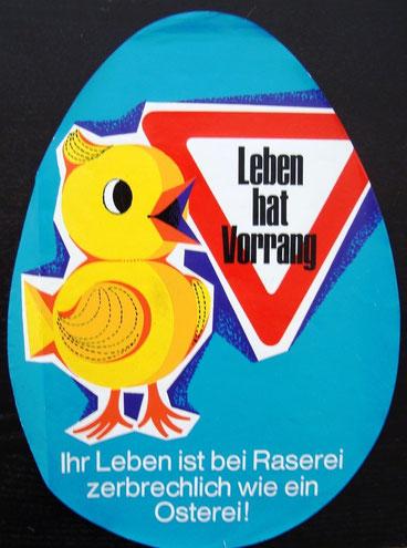 Verkehrssicherheits-Kampagne Osterverkehr ARBÖ 1966. Heinz Traimer.