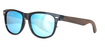 Sonnenbrille Holzbügel verspiegelt