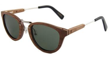 Sonnenbrille Holz rund mit Metalbügel