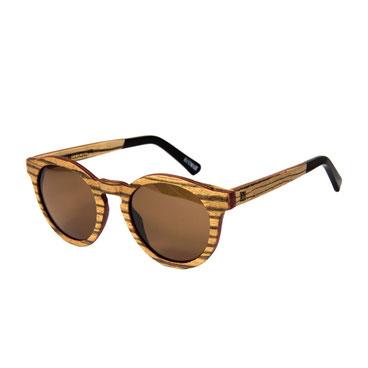 Sonnenbrille Holz Rund Zebraholz 2018