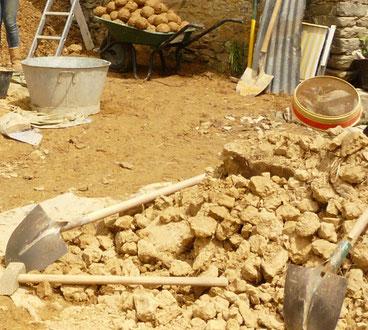 terre enduit dalle sol ressource écologique patrimoine traditionnel